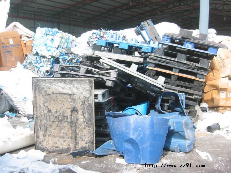 安徽蚌埠五河县废塑料集散地