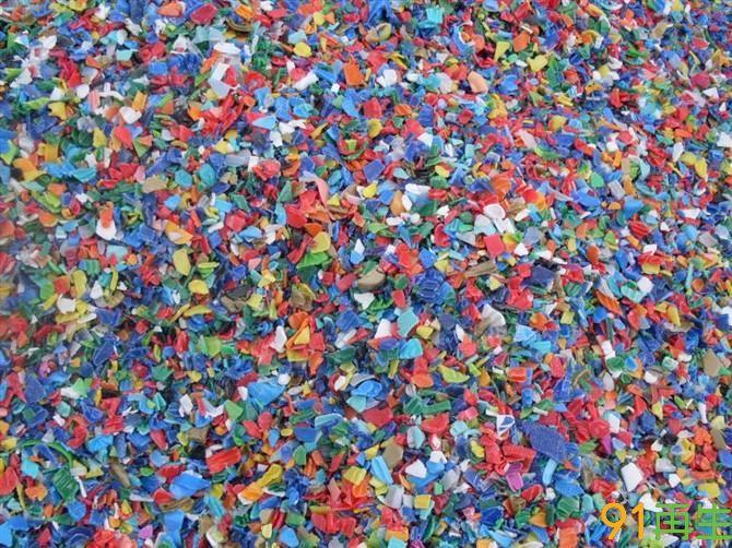 HDPE进口德国瓶盖粉碎料