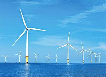美国首个海上风电场完成施工